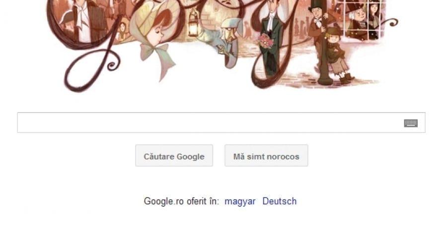 Google îl celebrează astăzi pe Charles Dickens