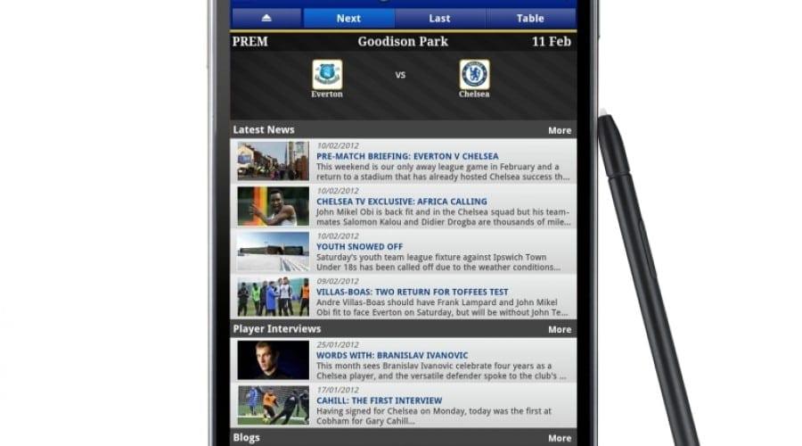 Samsung a lansat aplicaţia oficială Chelsea FC