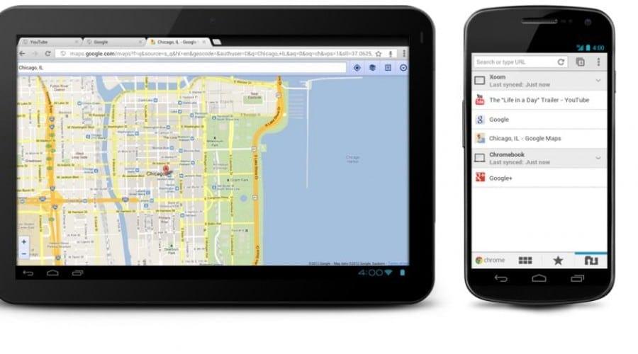 Google Chrome pentru telefoanele şi tabletele cu Android 4.0, Ice Cream Sandwich