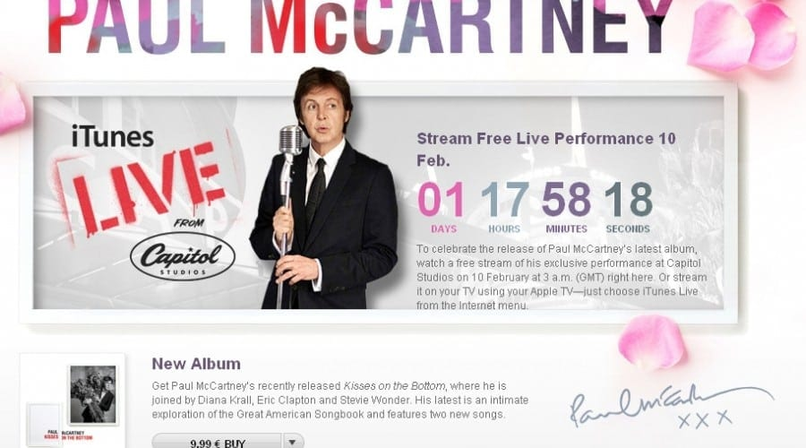 Apple oferă gratuit un concert Paul McCartney