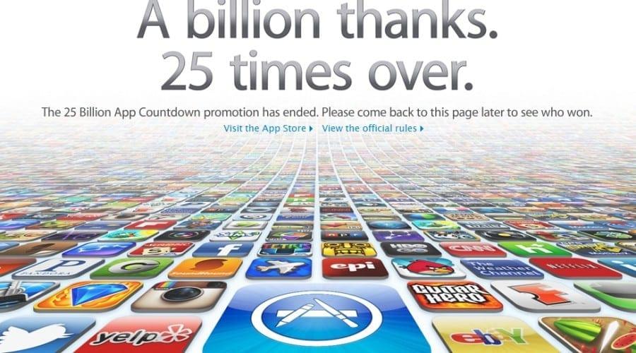 Peste 25 miliarde de aplicaţii descărcate din App Store