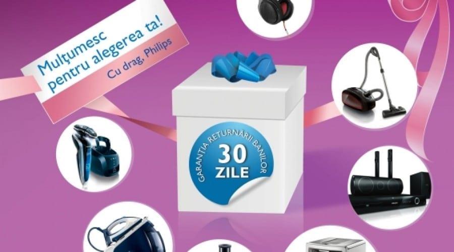 Philips îţi returnează banii în 30 de zile, dacă nu eşti mulţumit de produs
