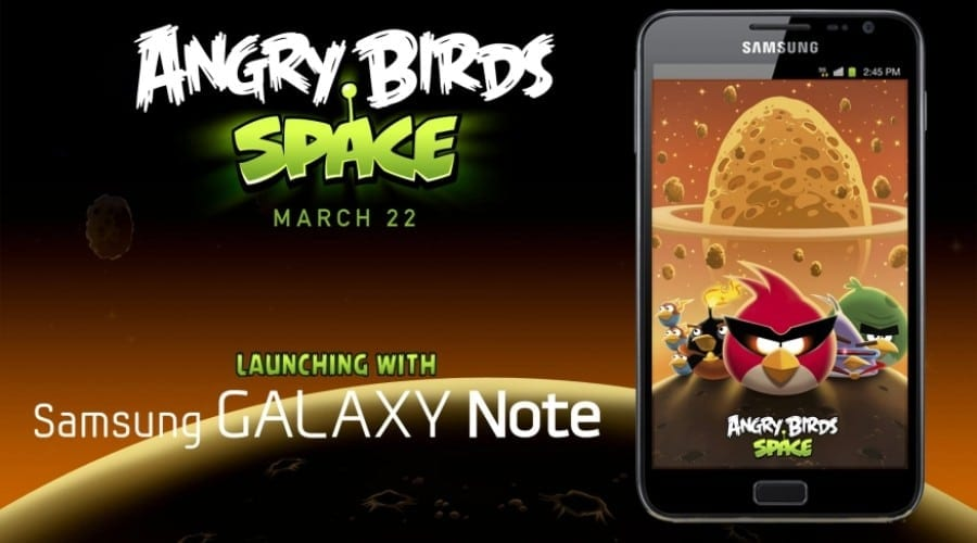 Angry Birds Space, avanpremieră în exclusivitate pe Samsung Galaxy Note
