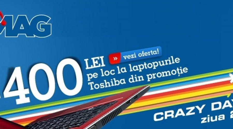 eMAG Crazy Days: Toshiba cu procesor i7 şi placă video dedicată la 2599 lei
