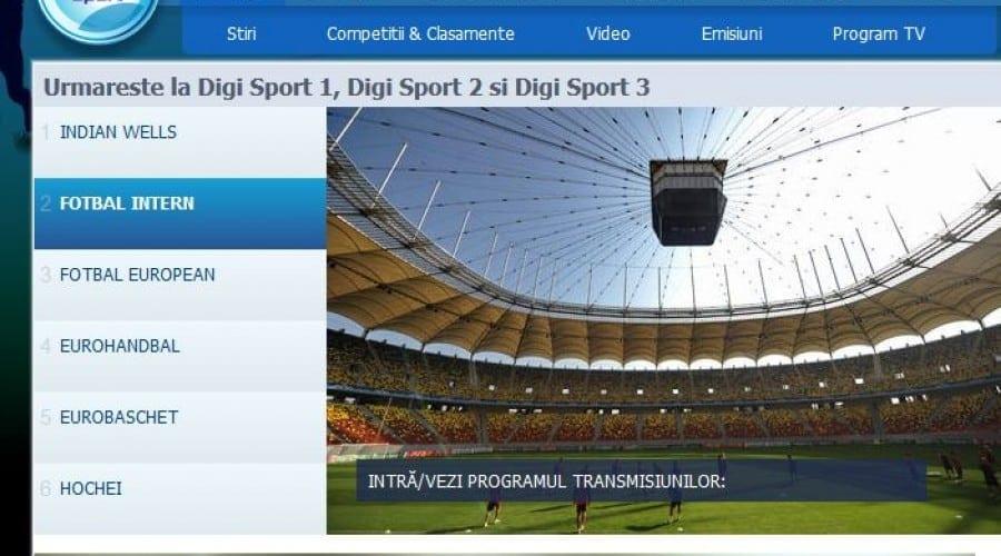 Digi Sport 1 şi Digi Sport 2 pot fi urmărite online pe Digisport.ro, de către abonații RCS & RDS