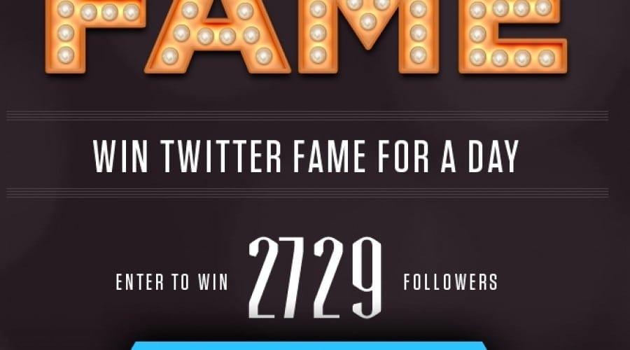 Fame îţi oferă celebritate pentru o zi pe Twitter