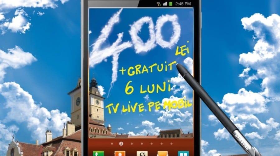 Samsung Galaxy Note îţi oferă un cadou de 400 lei