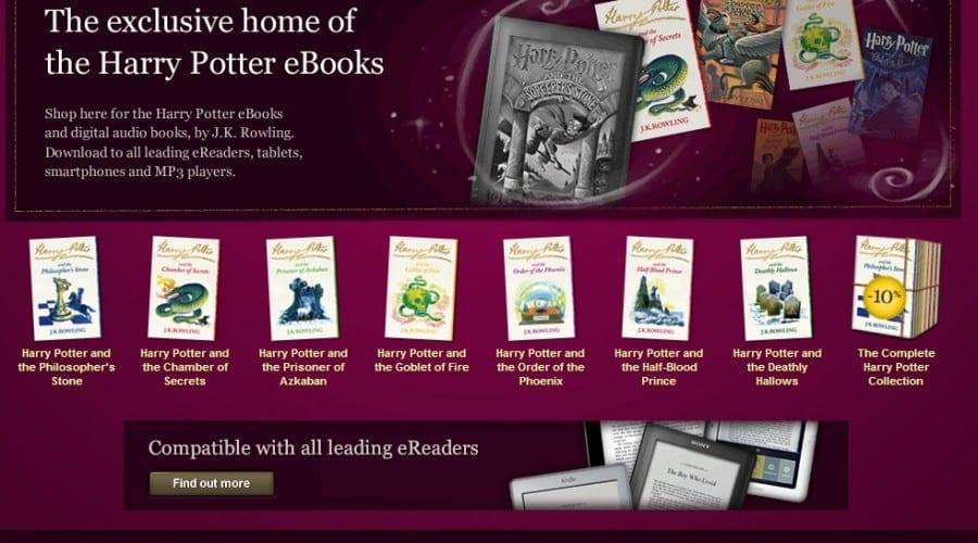 Cărţile Harry Potter, disponibile acum în format electronic şi audio