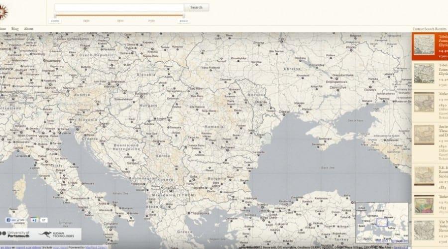 Descoperă hărţi ale României din perioada medievală, cu Old Maps Online
