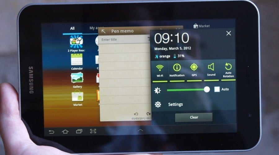 Samsung Galaxy Tab 7.0 Plus în test