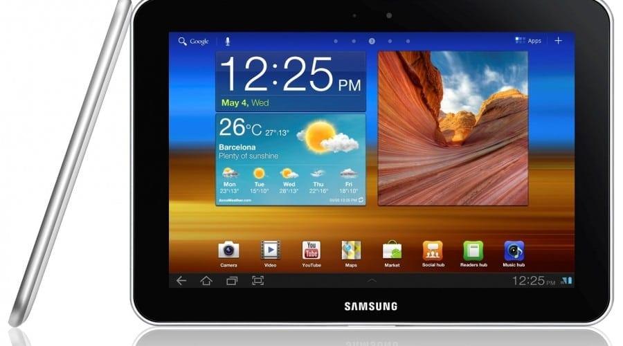 Tabletă Samsung pe post de catalog la un liceu din România