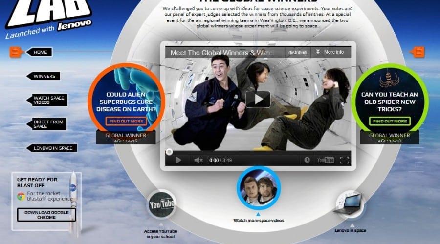 Youtube a anunţat câştigătorii competiţiei Space Lab