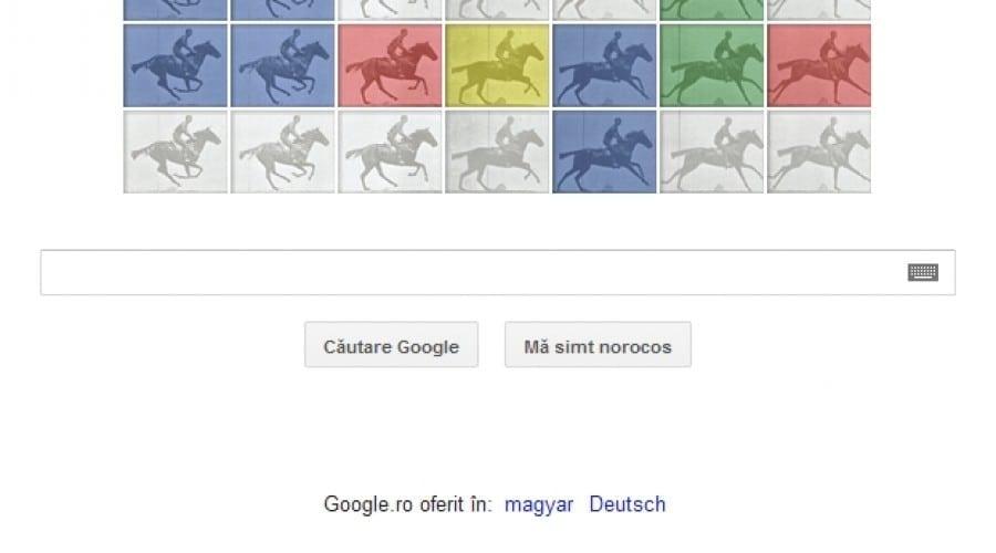 Google celebrează 182 ani de la naşterea lui Eadweard Muybridge, creatorul zoopariscopului