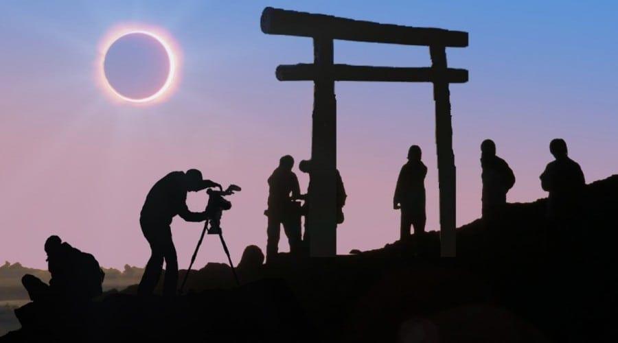 Eclipsa de soare transmisă live de pe muntele Fuji, cu ajutorul energiei solare