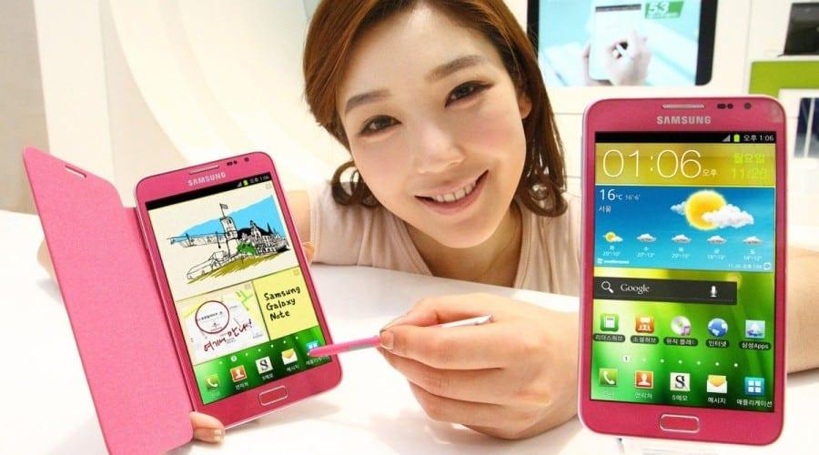 Samsung Galaxy Note, de acum şi în variantă roz