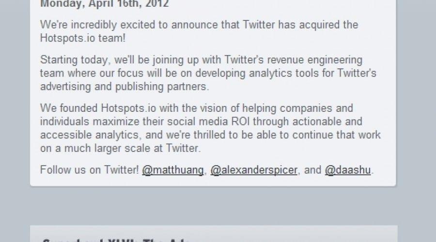 Twitter a achiziţionat site-ul de market research Hotspots.io