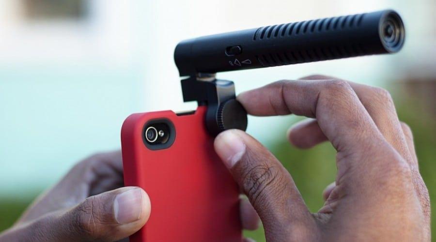 Microfon cu zoom pentru iPhone și iPad