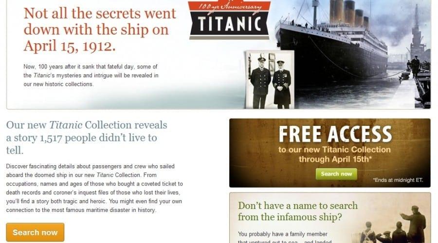 Ancestry.com celebrează 100 de ani de la scufundarea Titanicului