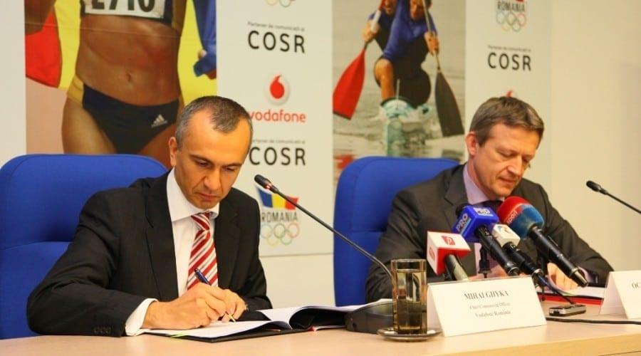 Vodafone sponsorizează Comitetul Olimpic şi Sportiv Român