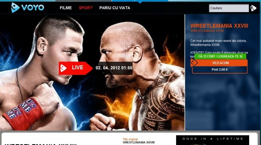Urmăreşte în direct Wrestlemania XXVIII pe Voyo