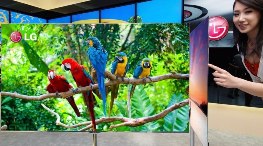 LG a debutat unul dintre cele mai subţiri televizoare de tip OLED din lume