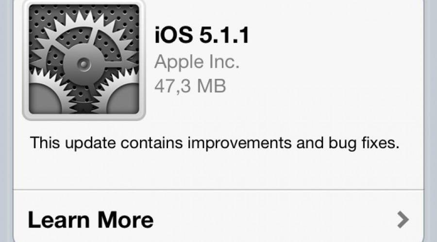 iOS 5.1.1 update: Soluţii pentru bug-uri ale camerei, conectivităţii şi a AirPlay
