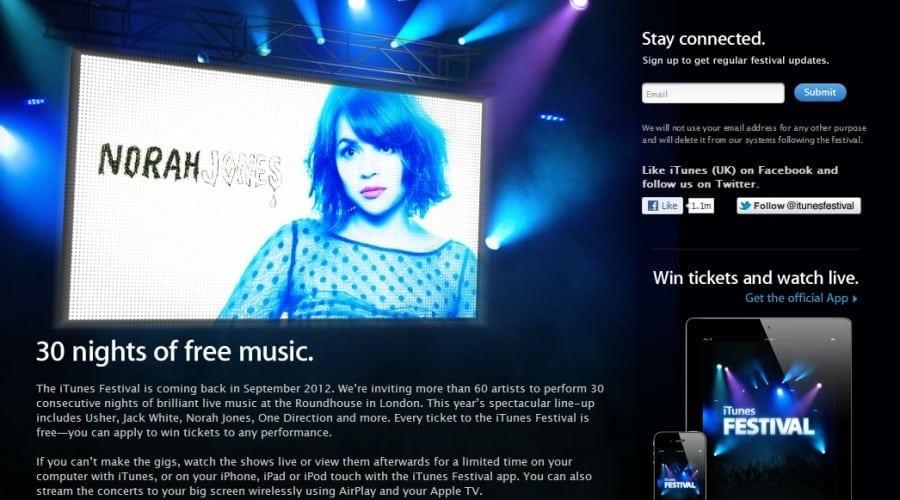 Festivalul iTunes va avea loc în septembrie