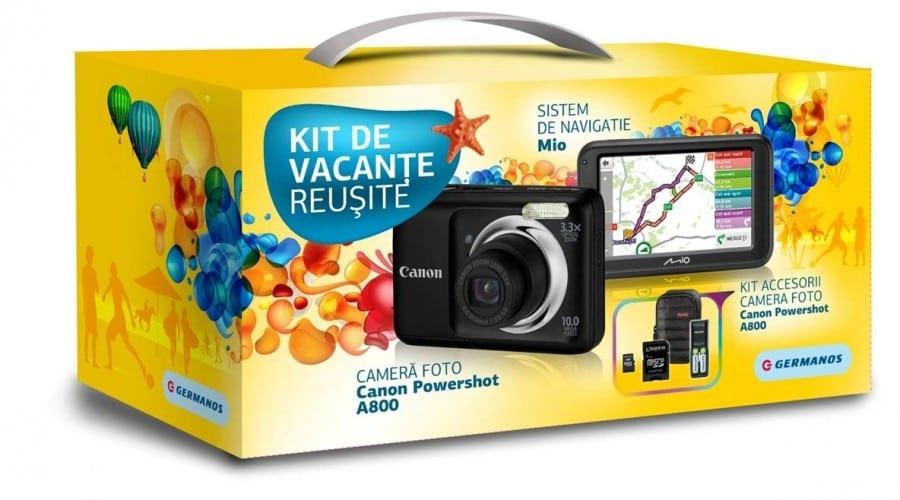 Canon Powershot A800 şi GPS MIO, într-un pachet de vacanţă de la Germanos