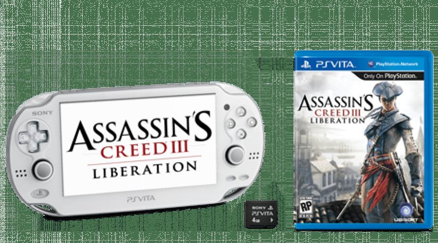 PlayStation Vita în variantă albă alături de noul Assassin's Creed III: Liberation