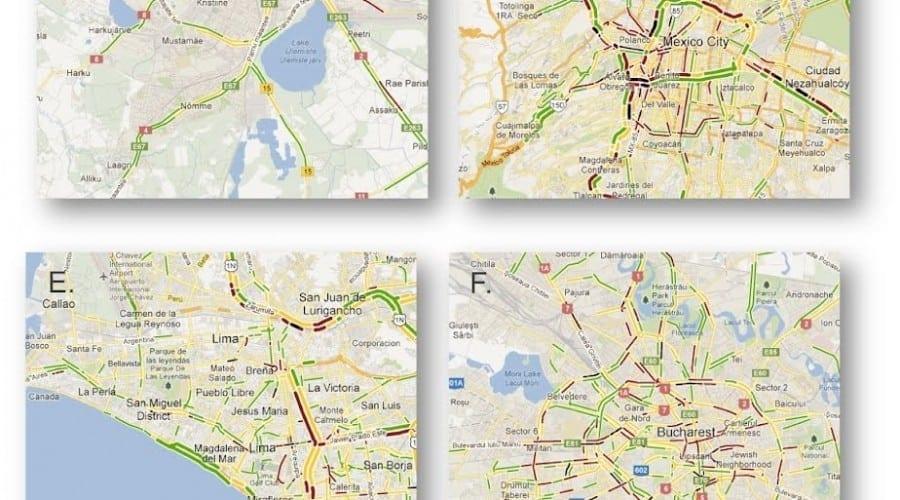Google Maps  oferă de acum informaţii despre traficul din Bucureşti