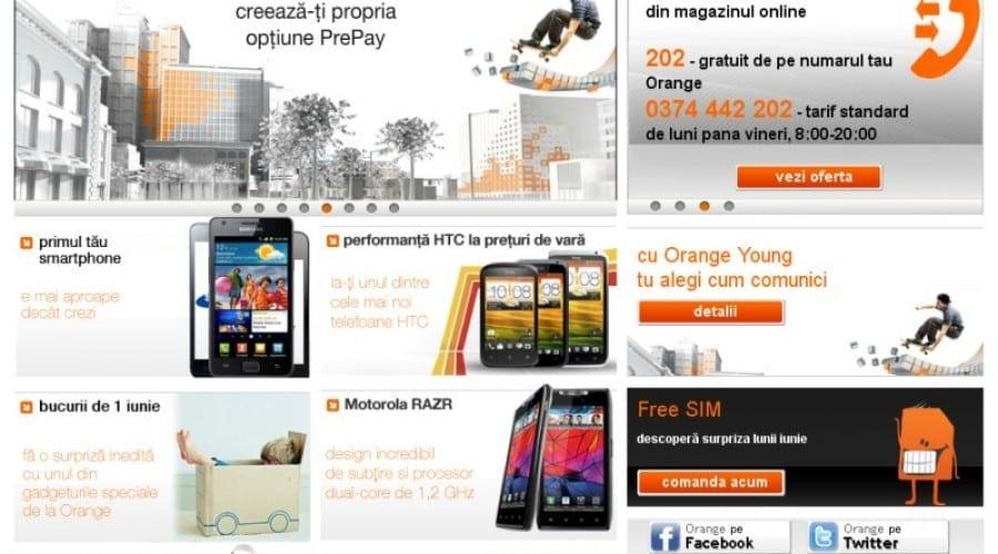 Orange.ro îşi schimbă look-ul, trece la un design mai intuitiv pentru client