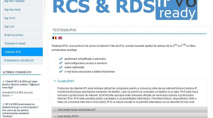 România se află pe primul loc în topul ţărilor cu cea mai mare rată de adoptare a IPv6