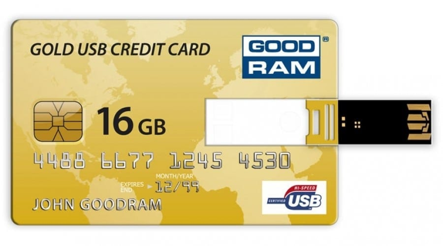 Goodram Gold USB Credit Card şi Piccolo: Stick-uri cu design aparte