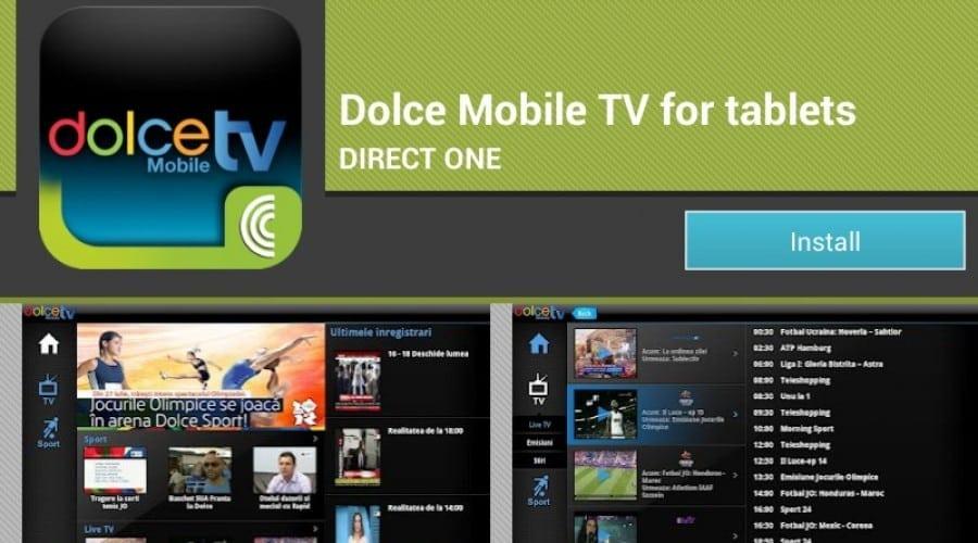 Dolce Mobile TV: Peste 5000 descărcări pe iOS şi peste 1000 pe Android