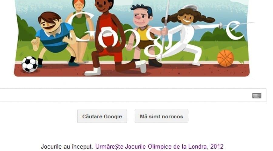 Jocurile Olimpice de la Londra 2012, celebrate de Google