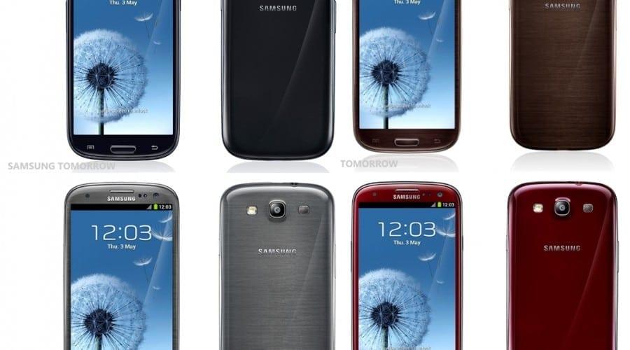 Galaxy S3 extinde paleta de culori cu nuante de rosu, maro, negru şi gri