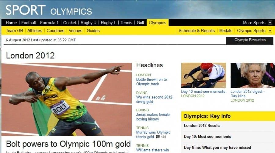 Jocurile Olimpice 2012: Record de audienţă on-line pentru BBC