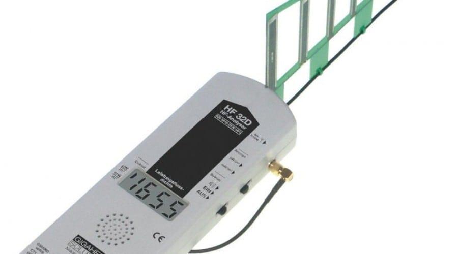 Detectează radiațiile electromagnetice cu ajutorul analizorului de semnale  Gigahertz Solutions HF32D