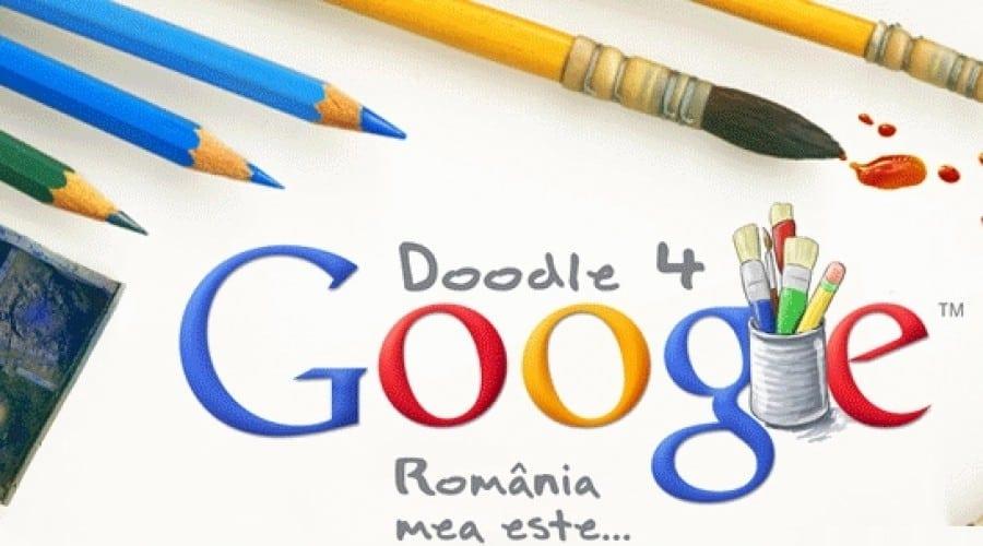 Google Doodle-ul pentru Ziua Nationala a Romaniei, desenat de elevi. Premii importante pentru câştigători