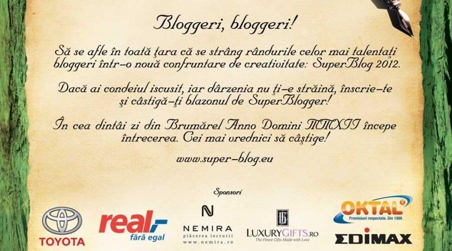 SuperBlog: Promovare 2.0 pentru companii, afirmare pentru bloggeri