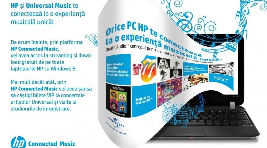 HP Connected Music: Utilizatorii de PC-uri HP pot asculta muzica din portofoliul Universal Music