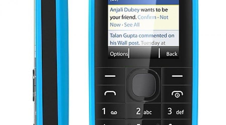 Nokia 109: Acces la Facebook, Twitter şi un preţ accesibil de 42 dolari