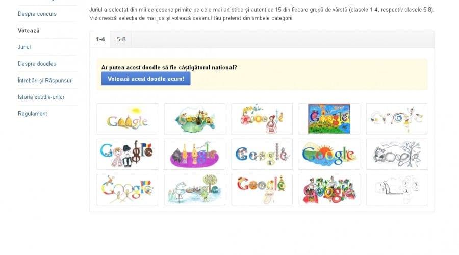 Doodle 4 Google: Tu alegi câştigătorul