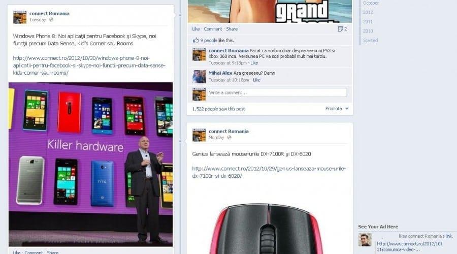 Facebook Timeline – Un nou design bate la uşa