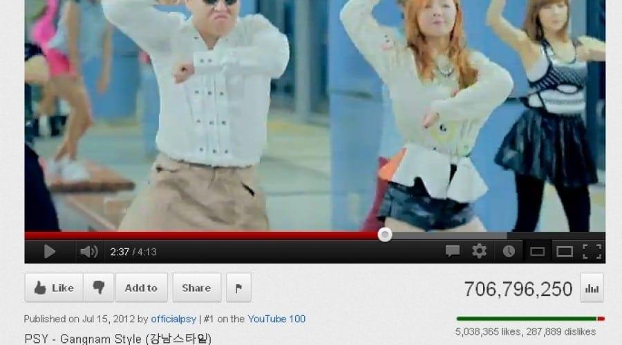 Gangnam Style, pe locul doi în topul celor mai vizionate clipuri pe Youtube
