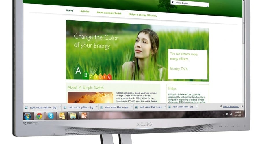 Philips ErgoSensor 231P4QRYES: Monitor de 23 inchi cu tehnologie IPS