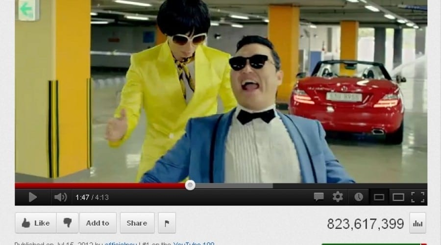 Gangnam Style e cel mai vizionat clip din istoria Youtube