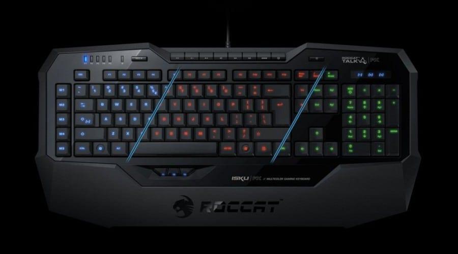Roccat Isku FX: Tastatură multicoloră pentru gameri