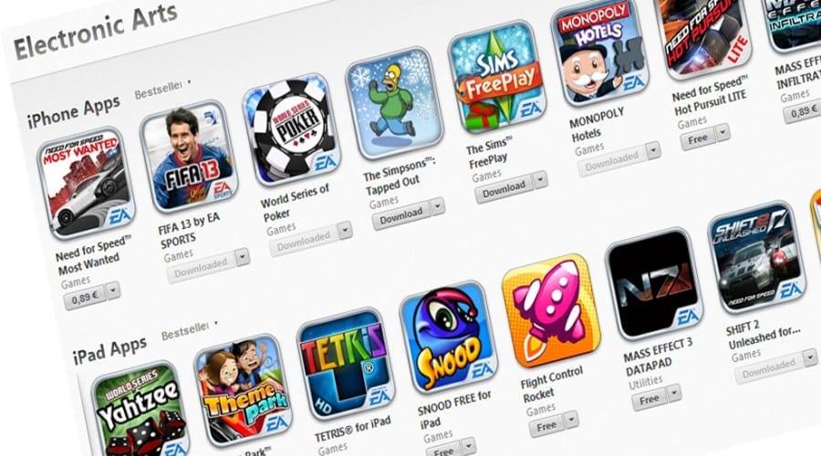 90% reducere pentru jocurile EA Games pentru iPhone si iPad in perioada Craciunului