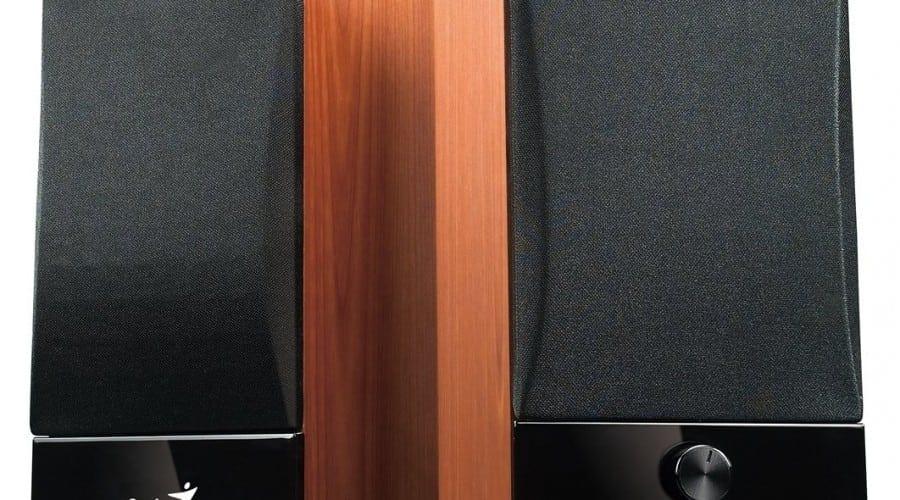 Genius SP-HF900B: Boxe din lemn de cireş la 160 lei